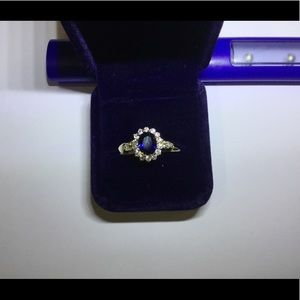 Dark blue and gold ring. Size 9 brand new